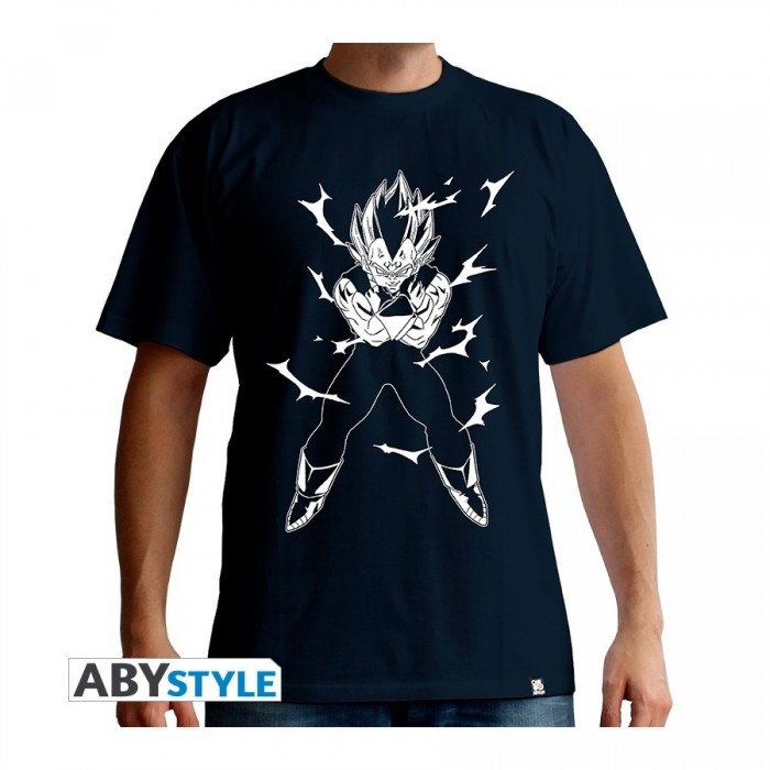 T-shirt Dragon Ball - Vegeta - Navy - M