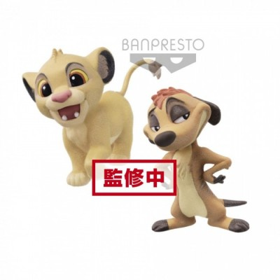 Simba & Timon - Fluffy Puffy- Disney - 7cm