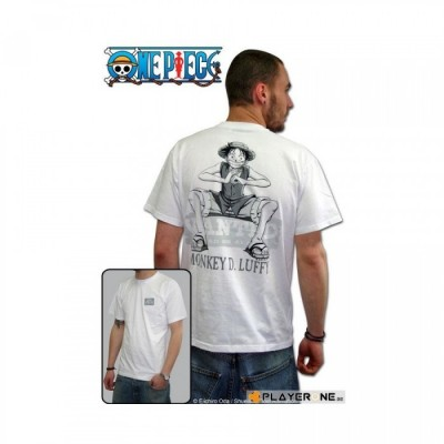 T-shirt One Piece - Wanted - XL (blanc)