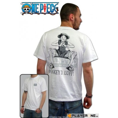 T-shirt One Piece - Wanted - M (blanc)