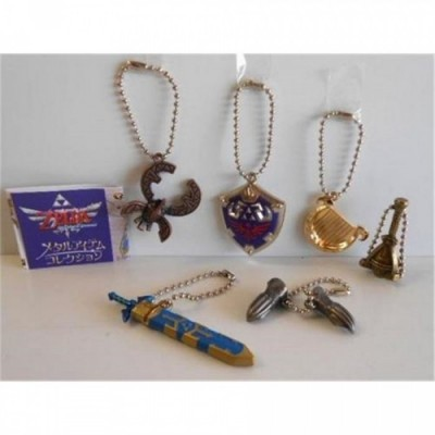 Zelda - Skyward Sword Metal Items (Porte-clefs vendus par lot de 6)