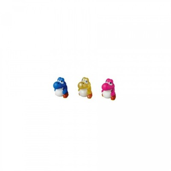 Yoshi Bébé (Rose, bleu, jaune) - Vinyl (7cm) - Version Mario Bros