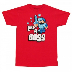 T-Shirt Blizzard - Like a Boss - Minecraft - M