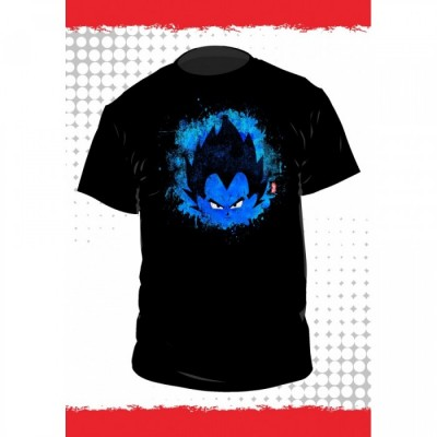 T-shirt Dragon Ball - Vegeta - Fond Noir - L