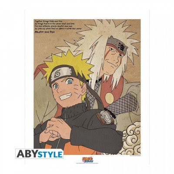 """Poster - Naruto Shippuden - ArtPrint """"Naruto & Jiraya"""" (50x40)"""