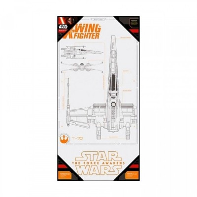 Poster avec Cadre - X-Wing - Star Wars - 50x25cm