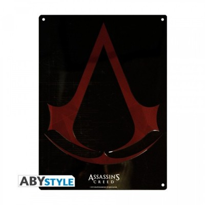 Plaque Métalique - Assassin's Creed - Crest (28x38)