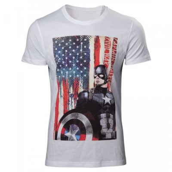 T-shirt Bioworld - Captain America Civil War - American Flag - L