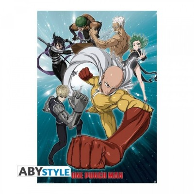 Poster roulé - Groupe - One Punch Man - 98 x 68 cm