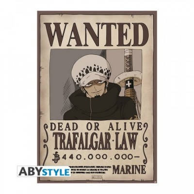"ONE PIECE - Poster ""Wanted Law"" roulé filmé (98x68)"