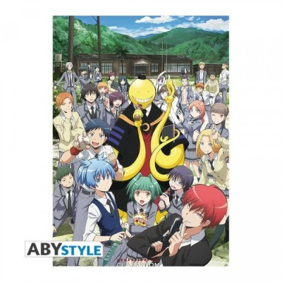"ASSASSINATION CLASSROOM - Poster ""Groupe"" roulé filmé (98x68)"