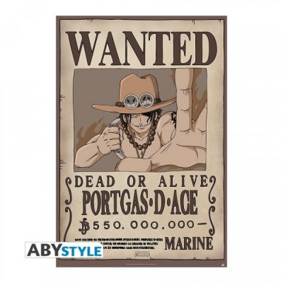 "One Piece - Poster ""Ace Wanted"" roulé filmé (98x68)"