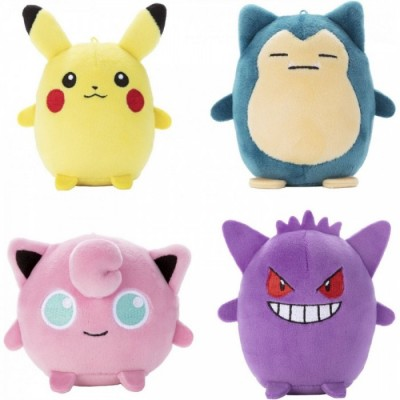 Présentoir - Peluches anti-stress - Pokemon - Assortiment de 6pces