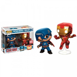 Captain America & Iron Man In Battle - Civil War - Pop Comics