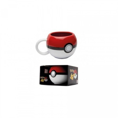 Mug 3D - Pokeball - Pokemon