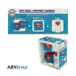 "Gift Pack Superman - Verre 29cl + Sous-verre + Mini Mug ""Superman"" *"