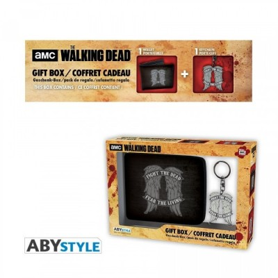 "Gift Pack The Walking Dead - Porte-monnaie + Porte-clés ""Daryl wings"""