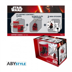 "Gift Pack Star Wars - Mug 320ml + Porte-clés PVC + Sticker ""Kylo Ren"" *"
