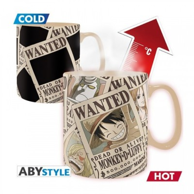 Mug - One Piece - Thermo Réactif - Wanted - 460ml