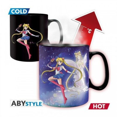 Mug - Sailor Moon - Thermo Réactif - Sailor & Chibi - 460ml