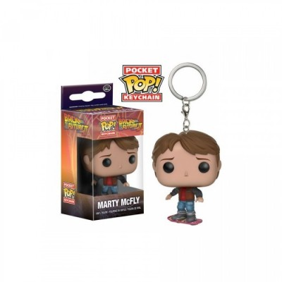 Marty McFly avec Hoverboard - Retour vers le futur -  Pocket POP Keychain