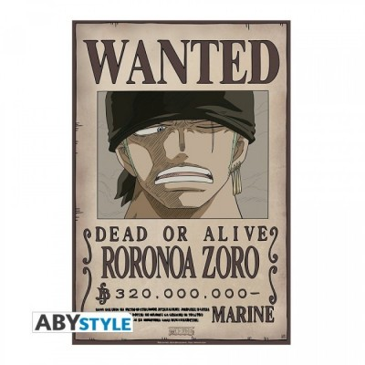 """ONE PIECE - Poster Roulé """"Wanted Zoro New"""" (91,5X61)"""