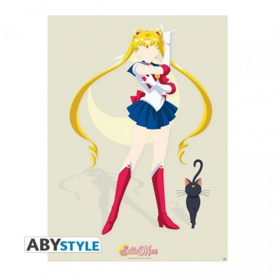 "Poster - Sailor Moon - ""Sailor Moon et Luna"" - (52x38)"