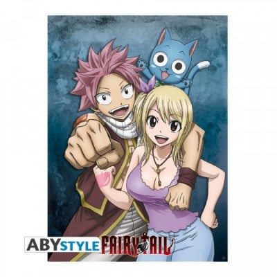 """Poster - Fairy Tail - """"Lucy, Natsu & Happy"""" - (52x38)"""