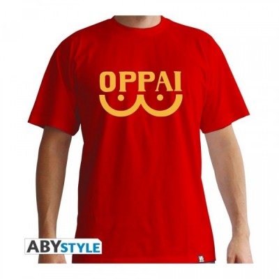 T-shirt One Punch Man - Oppai - Rouge - S
