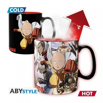 Mug - One Punch Man - Thermo Réactif - Heros - 460ml