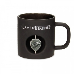 "Mug - Game Of Thrones - ""Famille Stark"" - Black - Symbole tournant"