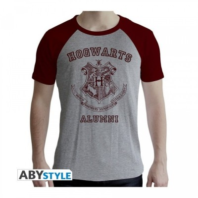 T-shirt Harry Potter - Alumni - Gris & Rouge - XL