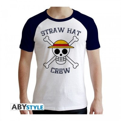 T-shirt One Piece - Skull - Blan & Bleu - M
