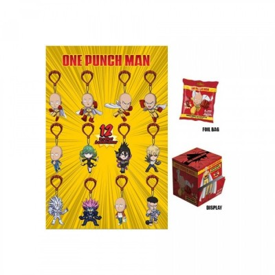 One Punch Man - Porte-clef - Assortiment de 24 - 6cm