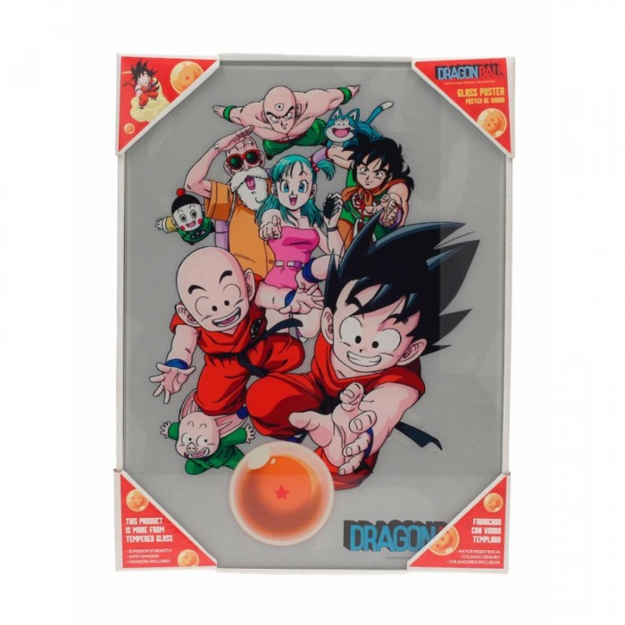 Poster avec Cadre - Dragon Ball - Groupe - 30x40cm