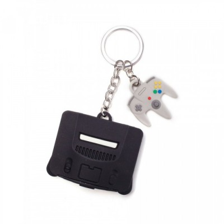 Porte-clef 3D Rubber - Nintendo 64 + Controller - Nintendo