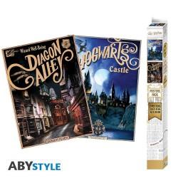Poster avec Cadre - Harry Potter - Deathly Hallows - 30x40cm