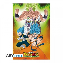 "Dragon Ball Super - Poster ""Broly Groupe"" roulé filmé (91,5x61)"