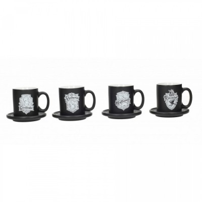 Set de 4 mugs expresso - House Emblems - Harry Potter