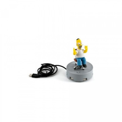 The Simpsons - Homer Hub USB 4 ports parlant