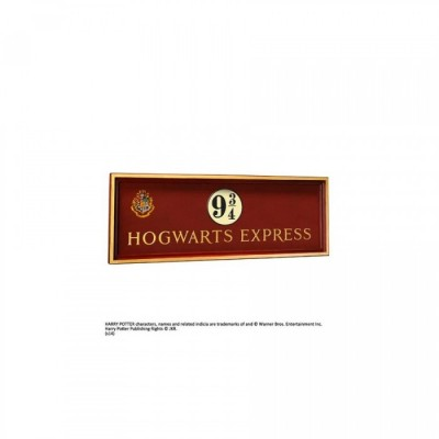 Harry Potter - Plaque Poudlard express quai 9 3/4 - bois