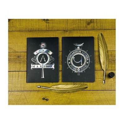 Carnet de Notes - Couv. Iridescente - Harry Potter - Set de 2 - A5
