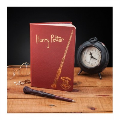 Carnet de Notes - Harry Potter et Stylo Baguette - Harry Potter - A5