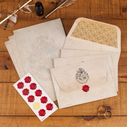 Set papeterie (Feuilles, enveloppes et stickers cachet de cire) - Harry Potter