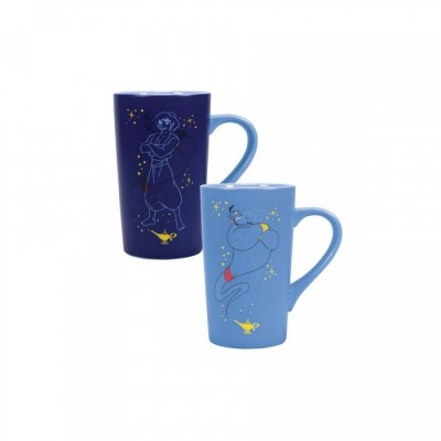 Mug Latte Thermo Reactif - Aladdin et Genie - Disney - 500ml