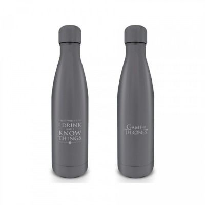 Bouteille d'Eau en Acier - I Drink and i Know Things - Game of Thrones - 500ml