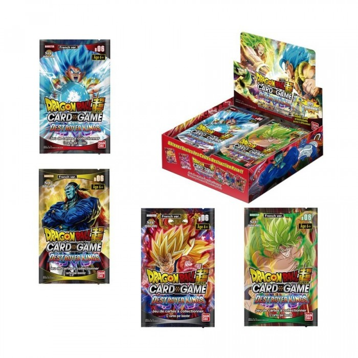 "JCC - Booster ""Destroyer Kings"" B06 - Dragon Ball Super Serie 6 (FR) - (24 boosters)"
