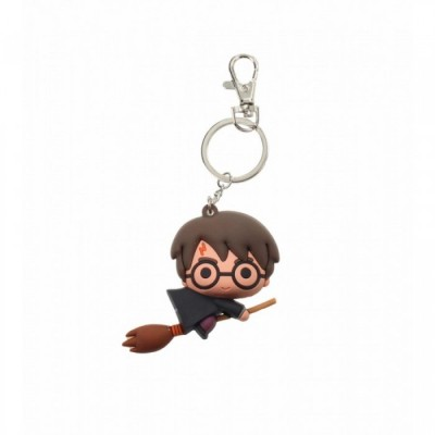 Porte-Clef PVC - Harry Potter sur Balai (Cape noire) - Harry potter