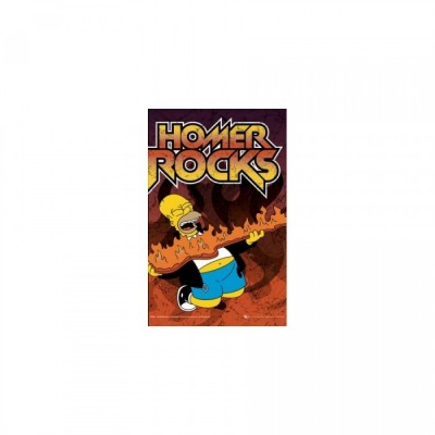 Simpsons T-Shirt - Homer Rocks