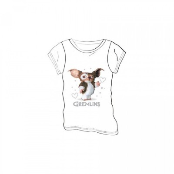 Gremlins - T-shirt Mogwaï coeur blanc - M Femme